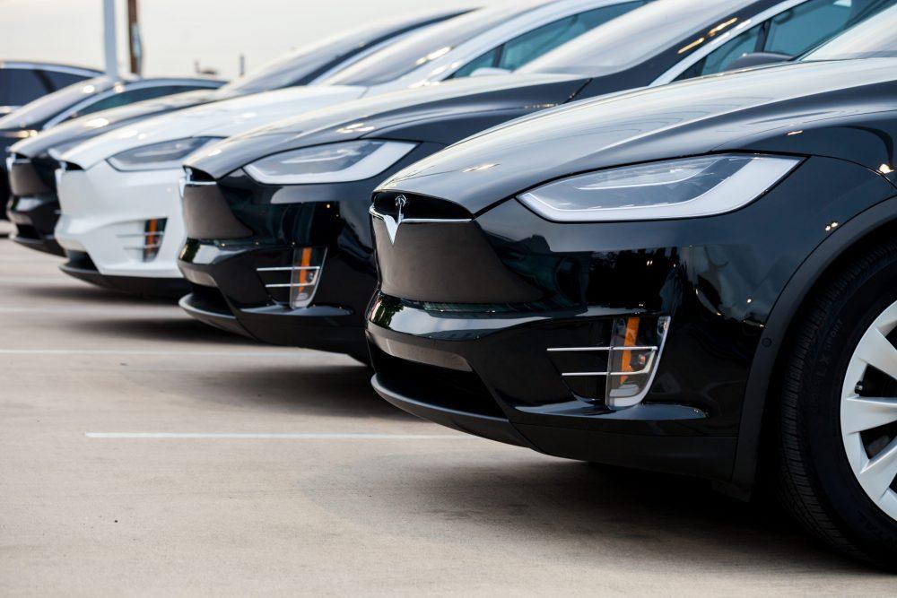 Tesla Model X in parking lot