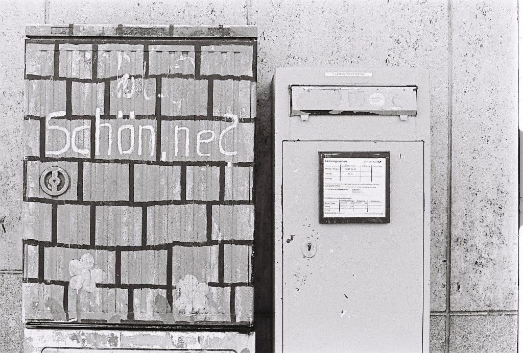 mailbox on analog photo