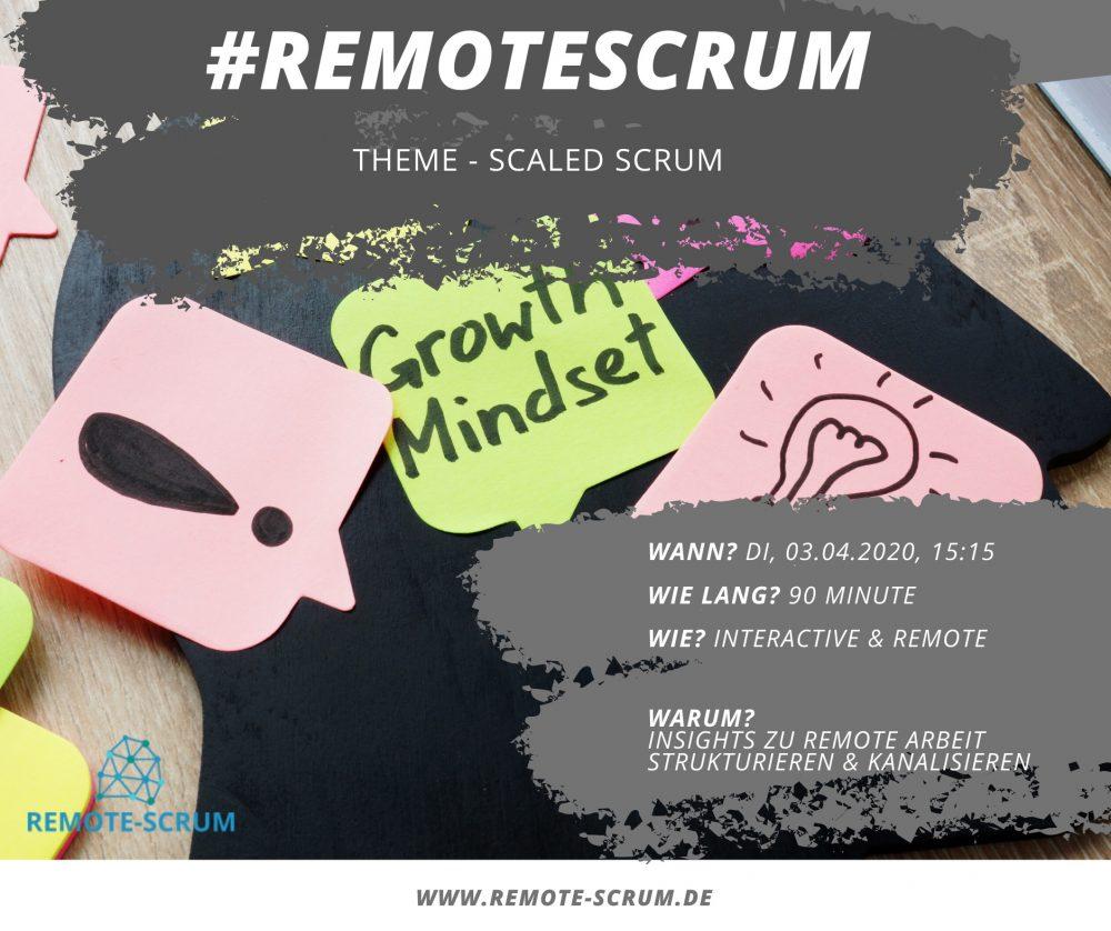 #remotescrum workshop big room events
