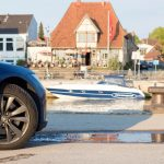 Model S in port Neustadt in Holstein