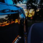 Model S with sunset