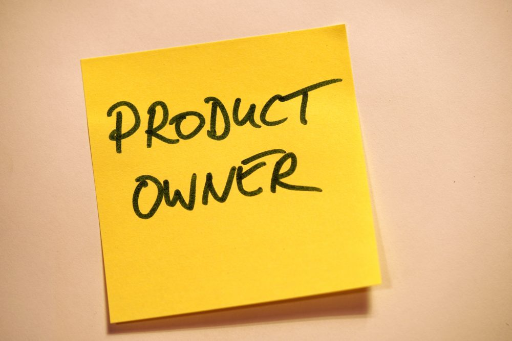 product owner post it